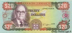 20 Dollars JAMAÏQUE  1989 P.72c SPL