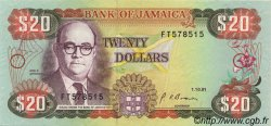 20 Dollars JAMAÏQUE  1991 P.72d SPL