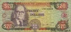 20 Dollars JAMAÏQUE  1995 P.72e TB