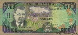 100 Dollars JAMAÏQUE  1991 P.75a pr.TB