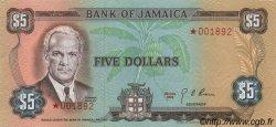 5 Dollars JAMAÏQUE  1978 P.CS03c NEUF