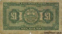 1 Pound JAMAÏQUE  1930 PS.139 pr.B
