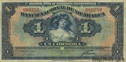 1 Cordoba NICARAGUA  1938 P.063b TB