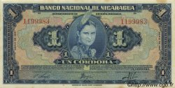 1 Cordoba NICARAGUA  1941 P.090a SUP+