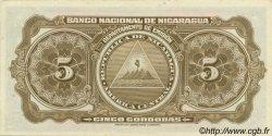 5 Cordobas NICARAGUA  1951 P.093c pr.NEUF