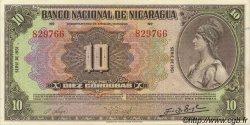 10 Cordobas NICARAGUA  1951 P.094c pr.NEUF