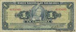 1 Cordoba NICARAGUA  1958 P.099b TB