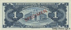 1 Cordoba NICARAGUA  1958 P.099bs SPL