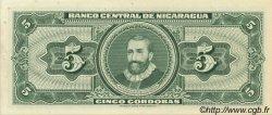 5 Cordobas NICARAGUA  1962 P.108 pr.NEUF