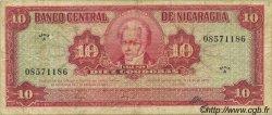 10 Cordobas NICARAGUA  1962 P.109 TB