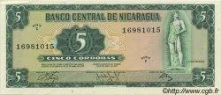 5 Cordobas NICARAGUA  1972 P.122 SPL
