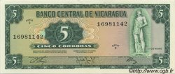 5 Cordobas NICARAGUA  1972 P.122 NEUF