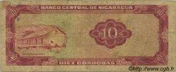 10 Cordobas NICARAGUA  1972 P.123 B+