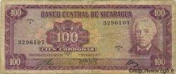 100 Cordobas NICARAGUA  1972 P.126 TB