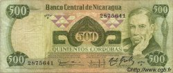500 Cordobas NICARAGUA  1984 P.142 TB