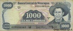 1000 Cordobas NICARAGUA  1985 P.145a TTB