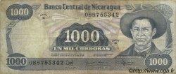 1000 Cordobas NICARAGUA  1985 P.145b TB