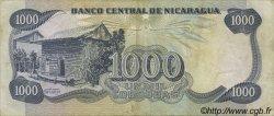 1000 Cordobas NICARAGUA  1985 P.145b TTB