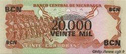 20000 Cordobas sur 20 Cordobas NICARAGUA  1987 P.147 SUP