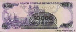 50000 Cordobas sur 50 Cordobas NICARAGUA  1987 P.148 SPL+