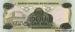 100000 Cordobas sur 500 Cordobas NICARAGUA  1987 P.149 NEUF
