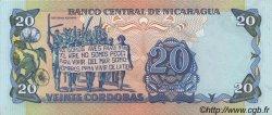20 Cordobas NICARAGUA  1985 P.152 NEUF