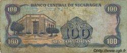 100 Cordobas NICARAGUA  1988 P.154 TB