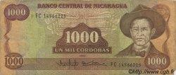 1000 Cordobas NICARAGUA  1988 P.156b TB