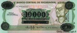10000 Cordobas sur 10 Cordobas NICARAGUA  1989 P.158 NEUF
