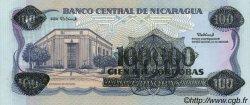 100000 Cordobas sur 100 Cordobas NICARAGUA  1989 P.159 NEUF