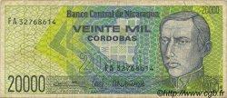 20000 Cordobas NICARAGUA  1989 P.160 pr.TTB