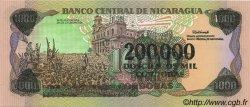 200000 Cordobas sur 1000 Cordobas NICARAGUA  1990 P.162 NEUF