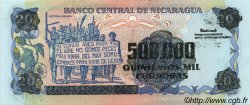 500000 Cordobas sur 20 Cordobas NICARAGUA  1990 P.163 NEUF