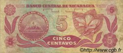5 Centavos NICARAGUA  1991 P.168 TTB