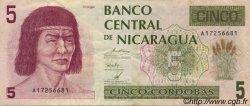 5 Cordobas NICARAGUA  1991 P.174 TTB