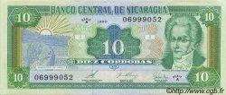 10 Cordobas NICARAGUA  1990 P.175 NEUF