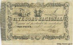 3 Pesos PARAGUAY  1860 P.013 TB+