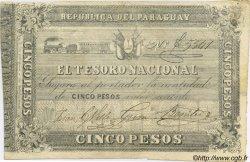 5 Pesos PARAGUAY  1861 P.014 TTB