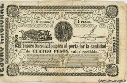 4 Pesos PARAGUAY  1862 P.016 pr.TB