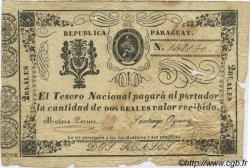 2 Reales PARAGUAY  1865 P.019 B+