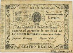 4 Reales PARAGUAY  1865 P.020 TTB