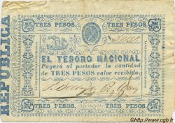 3 Pesos PARAGUAY  1865 P.023 pr.TTB