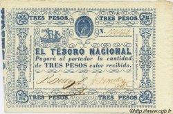 3 Pesos PARAGUAY  1865 P.023 SUP