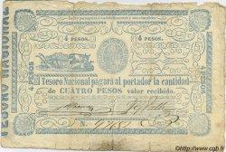 4 Pesos PARAGUAY  1865 P.024 B