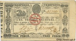 3 Pesos PARAGUAY  1868 P.031 SUP