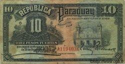 10 Pesos PARAGUAY  1920 P.144 TB