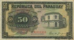 50 Pesos PARAGUAY  1923 P.151 TTB