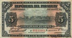 5 Pesos PARAGUAY  1923 P.163 TTB+
