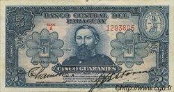 5 Guaranies PARAGUAY  1952 P.186a TTB