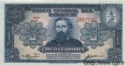 5 Guaranies PARAGUAY  1952 P.186a SPL